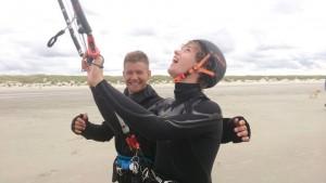 instructeur de kitesurf passionné, un vrai !